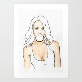 Bubblegum - WIP Art Print