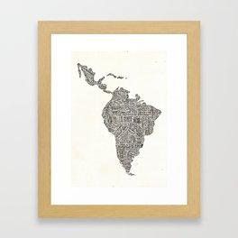 latinoamerica Framed Art Print