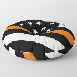 Search & Rescue: Black Flag & Thin Orange Floor Pillow