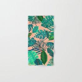 Summer Tropical Leaves Hand & Bath Towel