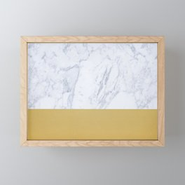 Middle Gold Framed Mini Art Print
