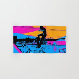 On Edge - Skateboarder Hand & Bath Towel