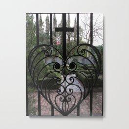 Heart Gate Iron Work Charleston S.C.  Metal Print