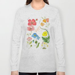 Types of Poppies Long Sleeve T-shirt