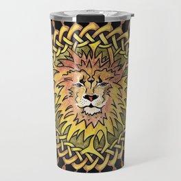 Lion Celtic Knot Mandala Travel Mug