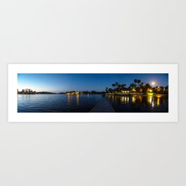 Full Moon on Canyon Lake Art Print