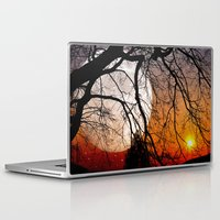 sun and moon Laptop & iPad Skins featuring Sun, moon and stars  by pinopics