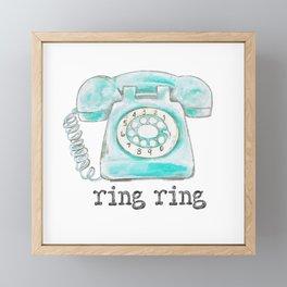 Vintage hone Ring Ring Framed Mini Art Print