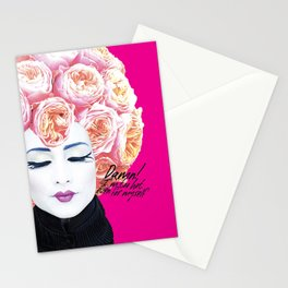 Floral Afro Stationery Cards