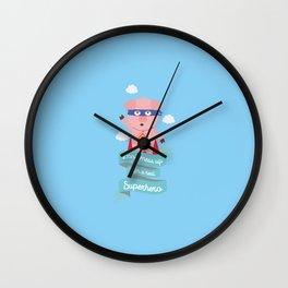 Dont mess up with a superhero T-Shirt Dz2tc Wall Clock