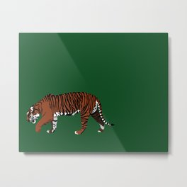 Tiger Stripes Metal Print