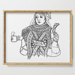 Queen love coffee. Serving Tray
