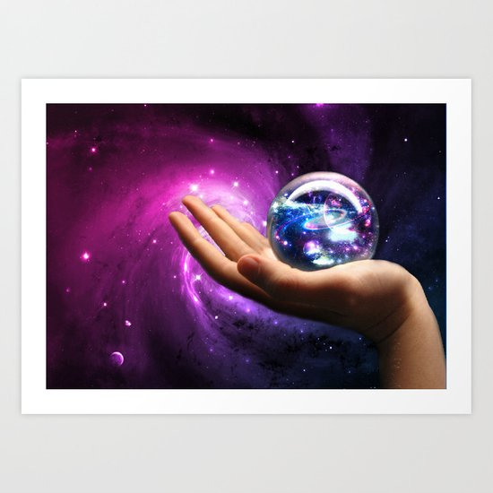 It's all in your hands Art Print