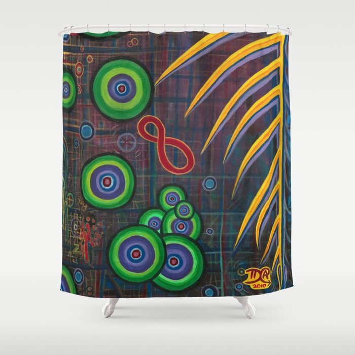 OzGrid Shower Curtain