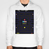 pac man Hoodies featuring Pac Man by Trash Apparel