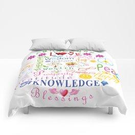 Inspirational Words Comforters