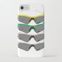 tour de france iPhone & iPod Cases featuring Tour de France Glasses by Pedlin