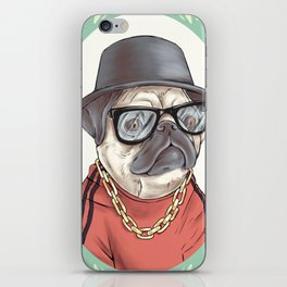 90's Pug rapper iPhone Skin