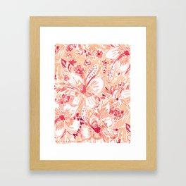 HIYA HIBISCUS Tropical Floral Framed Art Print