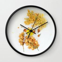 Flower dessert  Wall Clock