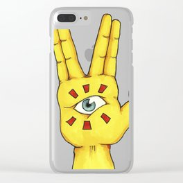 The hand that sees everything Clear iPhone Case