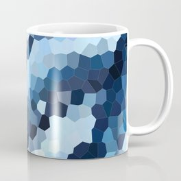 Blue Geometric Waves Coffee Mug
