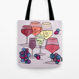 Wine and Grapes v2 Tote Bag