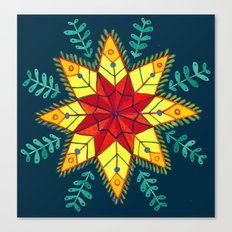 Folk Star Canvas Print