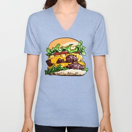 Just a Burger Unisex V-Neck