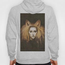 Vixen Fox Eared Girl Surreal Artwork Hoody