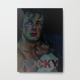Rocky : Screenplay Print Metal Print
