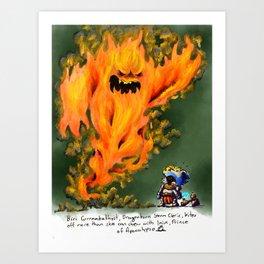 Doodles & Dragons - Mini Encounters Art Print