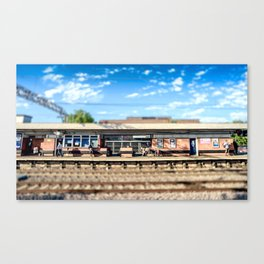 Miniature People at the Station Canvas Print
