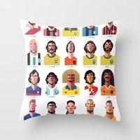 brazil Throw Pillows featuring Playmakers by Daniel Nyari