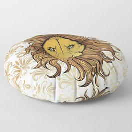 King  Lion Floor Pillow