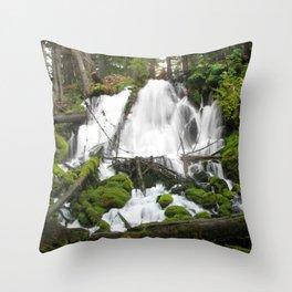 Clear Creek Falls Throw Pillow