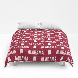 Alabama bama crimson tide pattern football varsity alumni Comforters