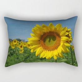 Sunflower soloist (with backup chorus!) Rectangular Pillow