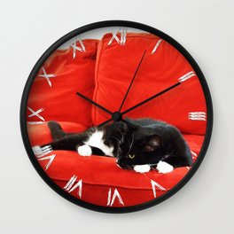 Meowlancholy Wall Clock