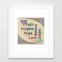 inspirational Framed Art Prints featuring Inspirational by LLL Creations