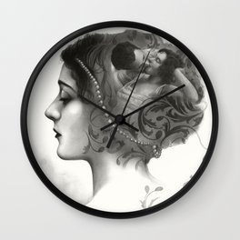 Requiro - pencil drawing Wall Clock