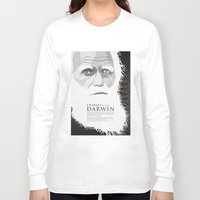 darwin Long Sleeve T-shirts featuring Darwin by James Northcote