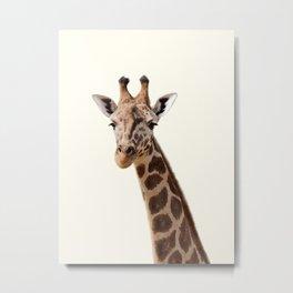 Giraffe Print Metal Print