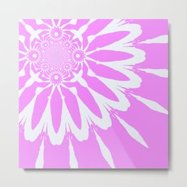 The Modern Flower Orchid Pink Metal Print