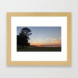 SunsetbytheLake Framed Art Print