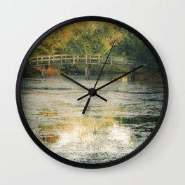 A Monet Landscape Wall Clock
