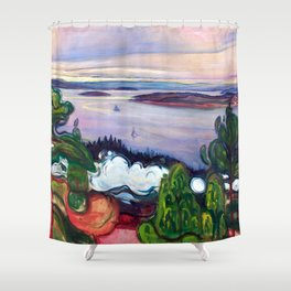 Edvard Munch - Train Smoke Shower Curtain