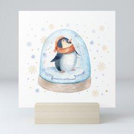 Penguin Snow globe Mini Art Print