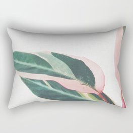 Pink Leaves II Rectangular Pillow
