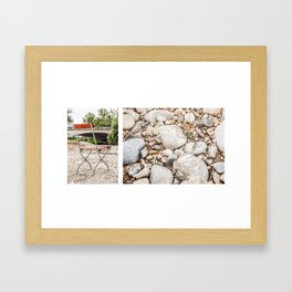 sit down... stones Framed Art Print
